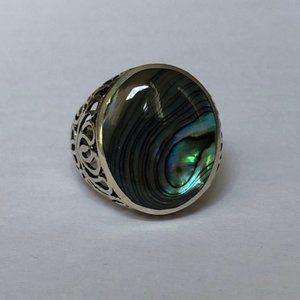 Silver Natural Stone Ring
